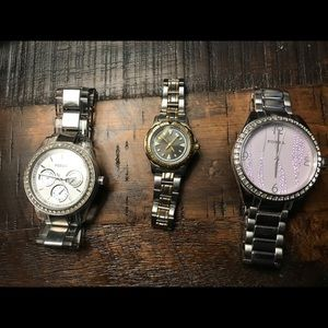3 Fossil watches